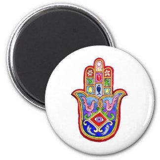 Hamsa 6 Cm Round Magnet