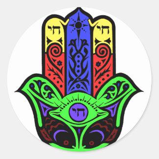 HAMSA and CHI Classic Round Sticker