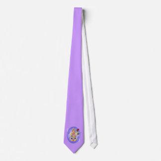 Hamsa and Flowers Oval Ties
