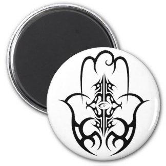 HAMSA - black and white Magnet