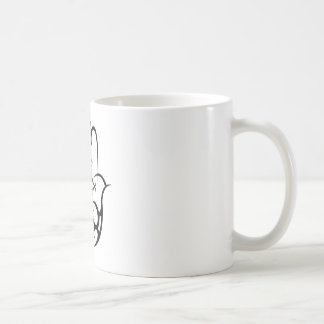 HAMSA - black and white Coffee Mug