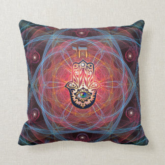 Hamsa- Chai Throw Pillow