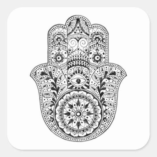 Hamsa Coaster Square Sticker