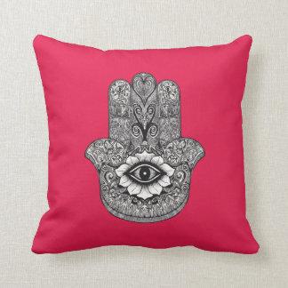 Hamsa fuchsia cushions