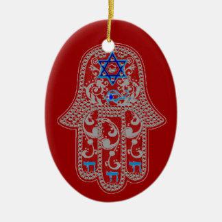 Hamsa good fortune ornament