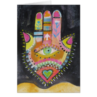 Hamsa hand ART Greeting Card