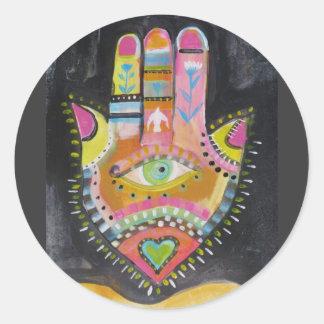 Hamsa hand ART Classic Round Sticker