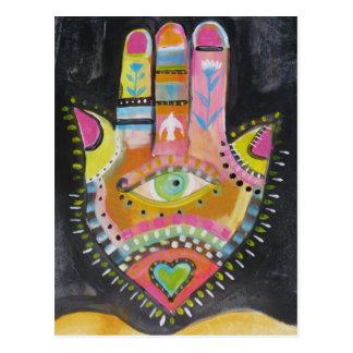 Hamsa hand ART Postcard