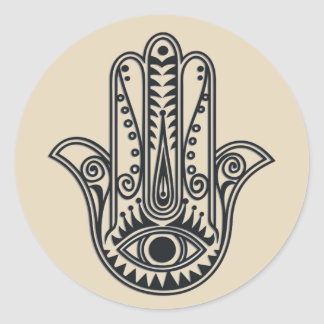 Hamsa Hand Classic Round Sticker
