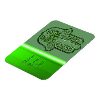 Hamsa Hand feat: Heart (Green) Rectangular Photo Magnet