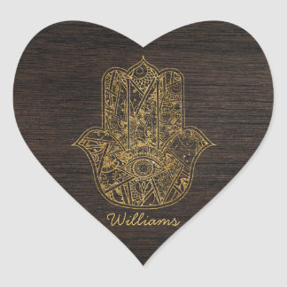 HAMSA Hand of Fatima symbol amulet design Heart Sticker