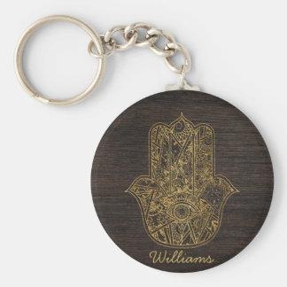 HAMSA Hand of Fatima symbol amulet design Key Ring