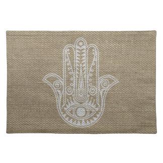 HAMSA Hand of Fatima symbol amulet Placemat