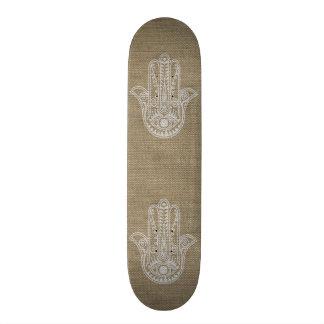 HAMSA Hand of Fatima symbol amulet Skate Deck