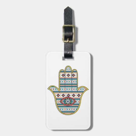 HAMSA Hand of Fatima symbol amulet, tribal Aztec
