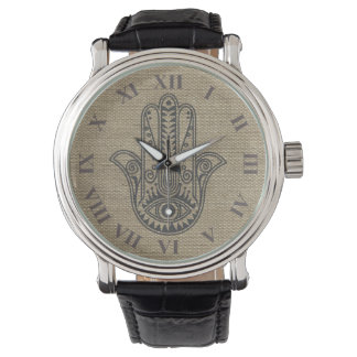 HAMSA Hand of Fatima symbol amulet Wristwatches