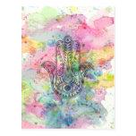 HAMSA Hand of Fatima symbol Postcard