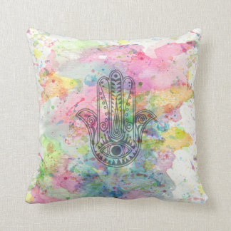 HAMSA Hand of Fatima symbol Throw Pillow