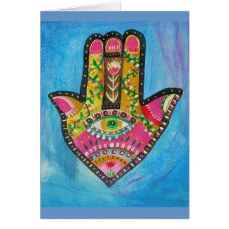 Hamsa Hand painting Card
