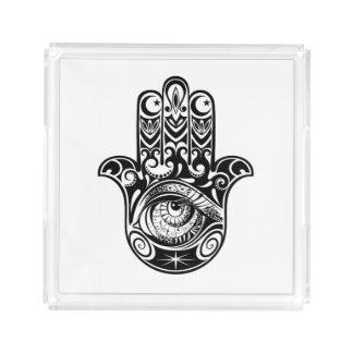 Hamsa Hand Zendoodle Acrylic Tray