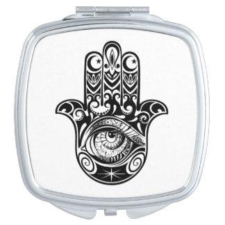 Hamsa Hand Zendoodle Makeup Mirror