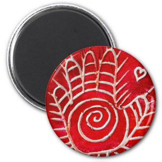 Hamsa / Healing Hand / Hand of Fatima 6 Cm Round Magnet