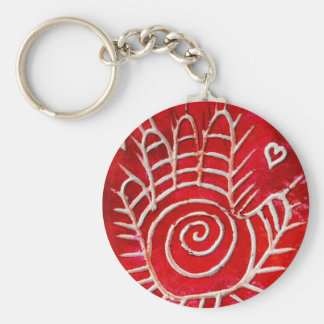 Hamsa / Healing Hand / Hand of Fatima Basic Round Button Key Ring