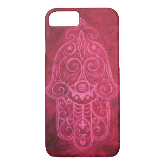 Hamsa in Magenta iPhone 8/7 Case