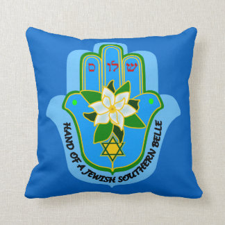 Hamsa Jewish Southern Belle pillow & Shalom y'all