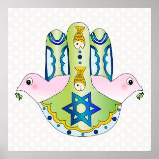 Hamsa judaica poster