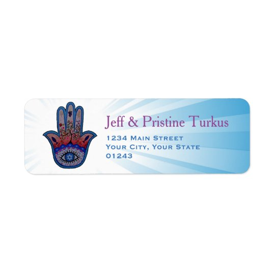 Hamsa Judaica Tree of Life Return Address Label