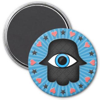 hamsa khamsa Eye in hand of the goddess 7.5 Cm Round Magnet
