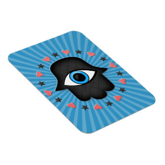 hamsa khamsa Eye in hand of the goddess Rectangular Photo Magnet