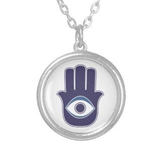 Hamsa / Khamsa Hand of Fatima / Mary Amulet / Luck Silver Plated Necklace