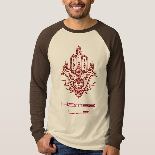 HAMSA Logo two tone mens long T-Shirt