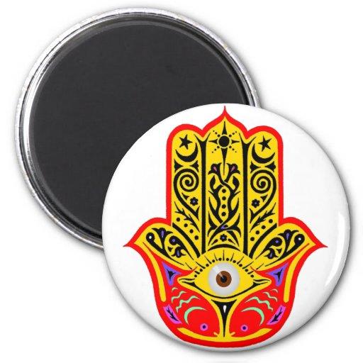 Hamsa - Magic Hamsa 6 Cm Round Magnet