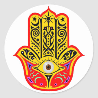 Hamsa - Magic Hamsa Classic Round Sticker