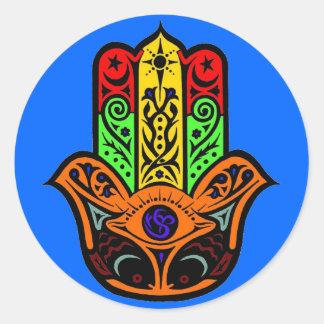 HAMSA multi color Classic Round Sticker