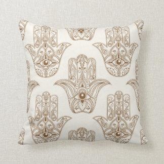 Hamsa symbols cushion