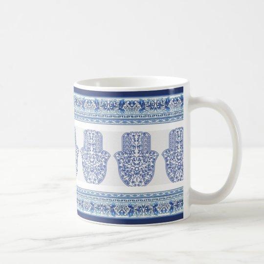 hamsa*tunis*morocco*henna*blue coffee mug