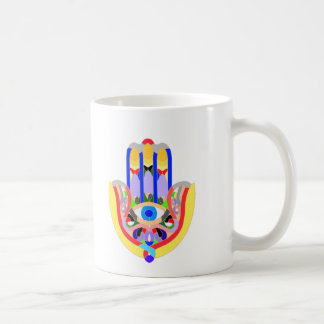 Hamsa - very colorful coffee mug