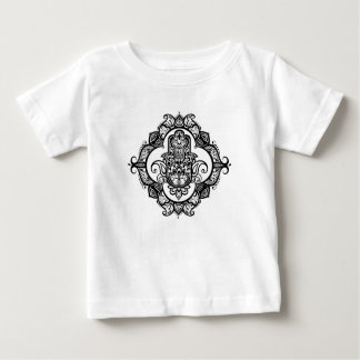 Hamsa With Ethnic Ornaments Doodle Baby T-Shirt