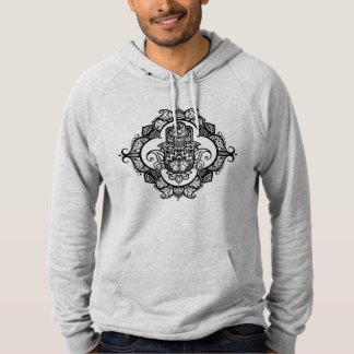 Hamsa With Ethnic Ornaments Doodle Hoodie