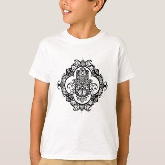 Hamsa With Ethnic Ornaments Doodle T-Shirt