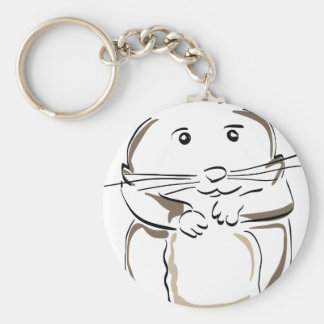 hamster-1530675 basic round button key ring