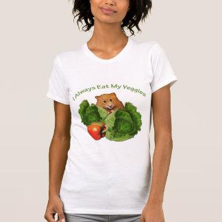 Hamster: Always Eat My Veggies: Health T-Shirt