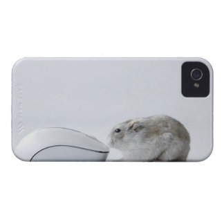 Hamster and Computer mouse iPhone 4 Case