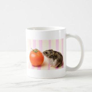 Hamster and tomato coffee mug