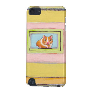 Hamster art fun cute whimsical acrylic painting iPod touch (5th generation) cases