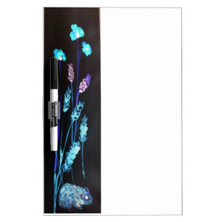 Hamster at night in a colourful Poppy corn meadow Dry Erase Board